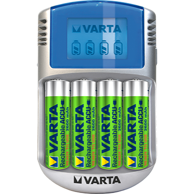 Varta Power Line LCD töltő 4xAA 2600 mAh (R2U) + 12V & USB
